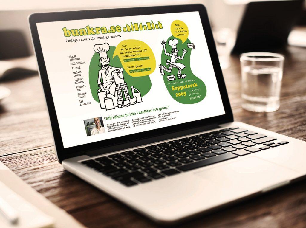 Serveras e-butik bunkra.se lanserades lekfullt med onlinespelet Soppatorsk