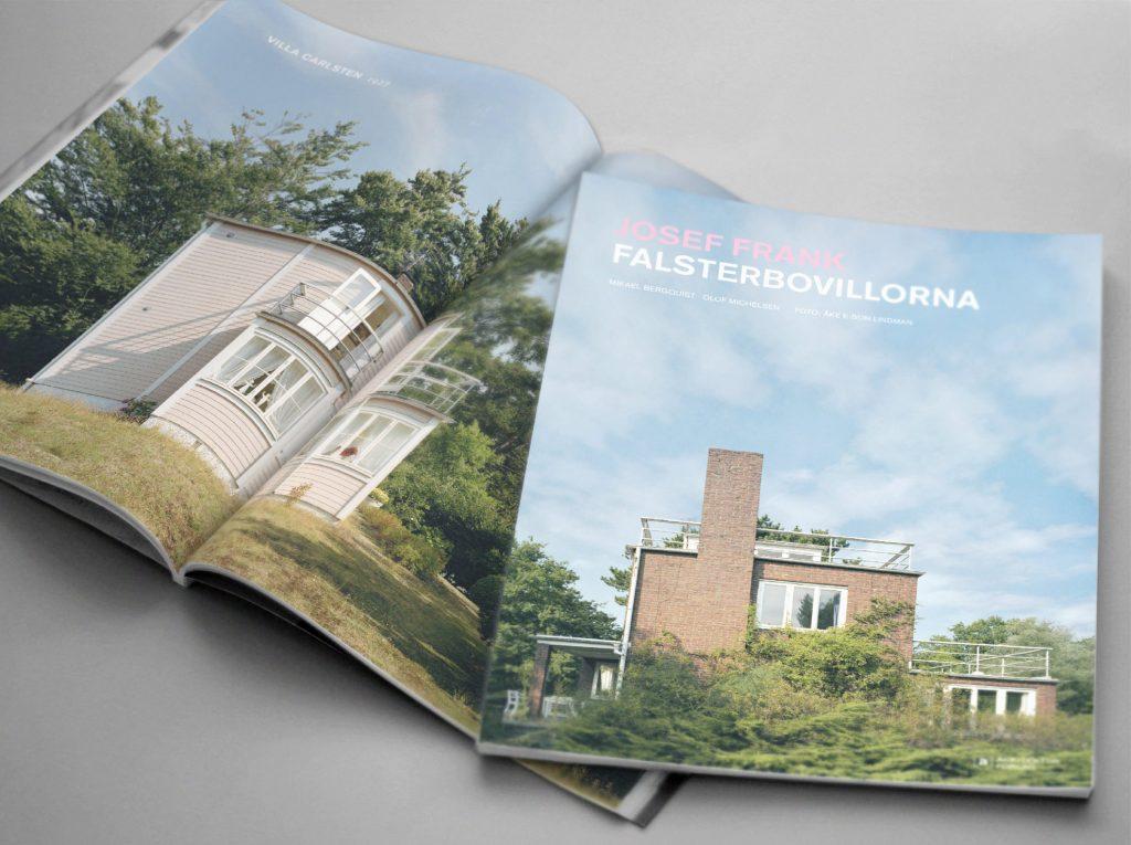 Josef Frank Falsterbovillorna – Arkitektur Förlag. Grafisk form samt original. Foto Åke E:son Lindman.