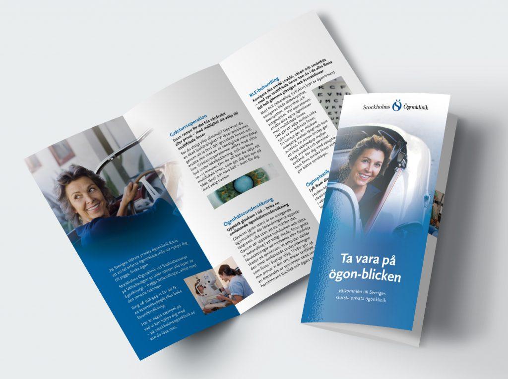 Liten folder för Stockholms Ögonklinik. För utskick eller för att ta med i samband med patientbesök. Presenterar kortfattat de behandlingar kliniken erbjuder.